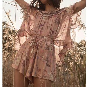 Spell & the gypsy wild bloom shorts L blush NWT
